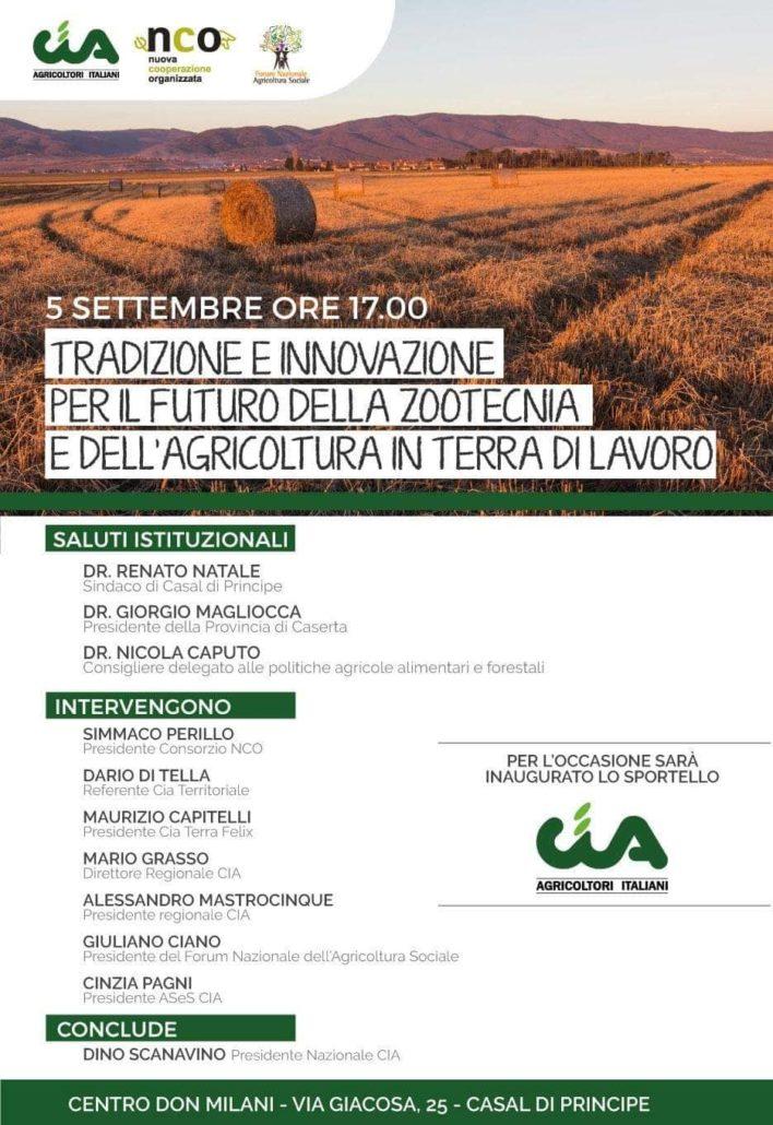 """Conferenza """"Tradizione e innovazione per il futuro della zootecnia e dell'agricoltura in Terra di Lavoro"""""""
